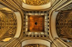Central Ceiling Crossing - Norwich Cathedral, Norwich, England - main period of building 1096-1145 #Gothic