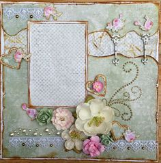 Scrapbook Sketches, Scrapbook Albums, Scrapbooking Layouts, Rose Cottage, Shabby Cottage, Shabby Chic, Vintage Scrapbook, Photo Layouts, Mini Albums