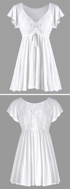 5c08705fcd044 Women s empire waist tunic shirt features a v neck