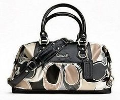 Coach Signature Sateen Scarf Print Hand Drawn Ashley Satchel Convertiable Bag Purse 17650 Multi Coach, http://www.amazon.com/dp/B005OT1S26/ref=cm_sw_r_pi_dp_oCFEqb1XQ7N7R