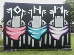 #Street #Artist #Czee13 finished #Streetart characters at #Hypefest #Gloucester.