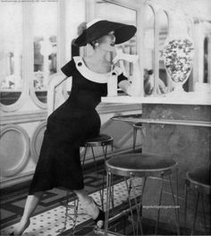 Mary Jane Russell wearing Adele Simpson 1956