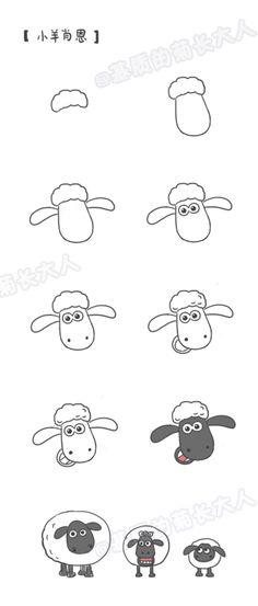 手帐教程——小羊肖恩