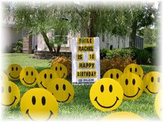 Smilies #birthday #lawn #sign