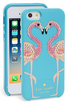 kate spade new york 'jeweled flamingos' iPhone 5 case available at #Nordstrom