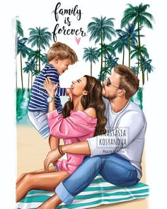 Baby cartoon family art ideas for 2019 Mother Daughter Art, Mother Art, Mom Son, Mother And Child, Family Illustration, Illustration Art, Girly Drawings, Families Are Forever, Baby Cartoon