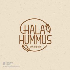 Hala Hummus Logo by Studio AIO https://www.behance.net/gallery/34635473/Hala-Hummus