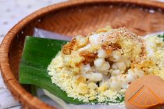 steamed-glutinous-rice-with-corn-recipe Vietnamese cuisine. Food desserts and street snacks around Vietnam. Recipes