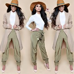 Ricki Brazil Camel Waterfall Coat & Khaki Trousers - absolutely LOVE this look! Fashion Killa, Fashion Beauty, Fashion Looks, Womens Fashion, Fashion Trends, Style Fashion, Looks Style, My Style, Spring Fashion