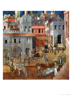 The Blessings of Good Government by Ambrogio Lorenzetti.