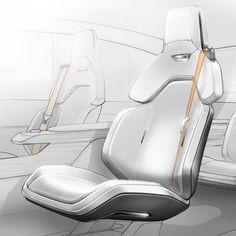 Car Interior Sketch, Car Interior Design, Automotive Design, Volvo, Pole Star, Ergonomic Chair, Transportation Design, Concept Cars, Texture