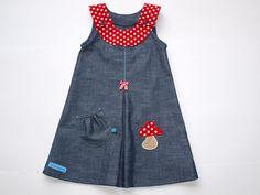 Jeans KLEID ♥Fliegenpilz♥ My big little girl will be wearing this one