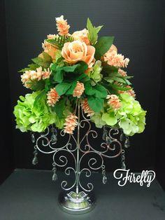 Candelabra floral arrangement