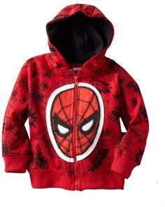 Kid Zip Up Hoodie Jacket: Marvel Comics - Spider-Man Face