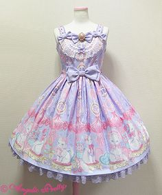 Angelic Pretty - Dolly Cat Lavender JSK <---This is the 4th pic of Dolly Cat that I have repinned and I'm not even sorry