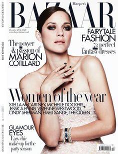 Beautiful photos of French actress Marion Cotillard by Ben Hassett for Harper's Bazaar UK December 2012...