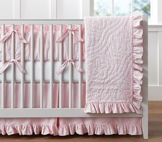 Ruffle Collection Nursery Bedding   Pottery Barn Kids - http://www.potterybarnkids.com/products/ruffle-collection-nursery-bedding-light-pink/?pkey=bgirls-nursery-bedding&&bgirls-nursery-bedding