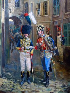 News from the front- by Mark Churms Military Art, Military History, War Of 1812, Army Uniform, French Army, Empire, Napoleonic Wars, France, Warfare