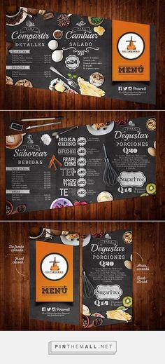 los Tulipanes by Sam Prz Menu Restaurant, Restaurant Design, Restaurant Identity, Speisenkarten Designs, Packaging Design, Branding Design, Identity Branding, Stationery Design, Visual Identity