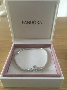 #Pandora moment sterling silver charm bracelet #barrel #clasp 20cm,  View more on the LINK: http://www.zeppy.io/product/gb/2/182252376477/