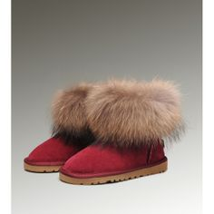 Uggs I can actually tolerate 2013 Fashion Classical Ugg Fox Fur Mini Boots for womens Clearance