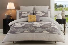 Shikoku Quilt cover Set by Cotton House Shikoku Quilt cover Set by Cotton House features unique pattern. Cotton House, King David, Quilt Cover Sets, David Jones, Linen Bedding, Bed Linen, Color Schemes, Shopping, Furniture