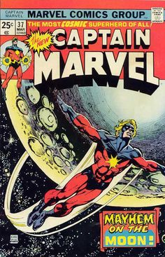 Captain Marvel # 37 by Gil Kane & Klaus Janson
