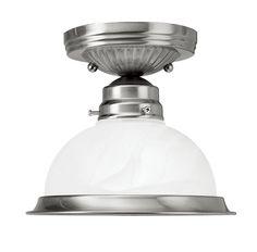Livex Lighting Home Basics Brushed Nickel Ceiling Mount 8106-91