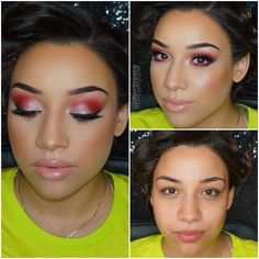 Red makeup look!