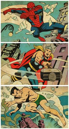 Spider-Man, Thor and the Sub-Mariner