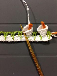 Цветочная обвязка края крючком. КАЛЛЫ (10) (525x700, 221Kb) #CrochetEdging