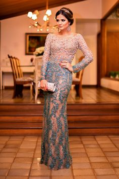 New Arrival High Quality Heavy Crystal Beaded Formal Evening Dresses Backless Long Sleeves Sexy Long Prom Dresses Party Dress Fabulous Dresses, Beautiful Gowns, Pretty Dresses, Beautiful Outfits, Prom Party Dresses, Formal Evening Dresses, Formal Gowns, Bridesmaid Dresses, Dress Vestidos
