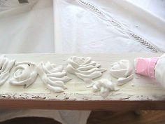 Joint compound and cake decorating tools for detail....have to try this!