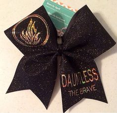 Dauntless The Brave Black Glitter Cheer Bow Divergent Hair, Divergent Trilogy, Divergent Insurgent Allegiant, Chevy Tattoo, Cheer Coaches, Cheer Bows, Cheer Hair, Cheer Pictures, The Fault In Our Stars
