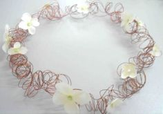Flower Girl Hair Wreath; alternative method using wire instead of grapevine