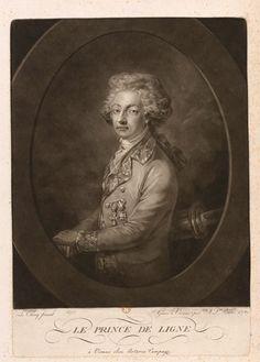 """Johann Peter Pichler d'après Leclercq, Charles Joseph, prince de Ligne (1780)   """"Je me suis bien trouvé d'être allemand en France, presque français en Autriche, et wallon à l'armée. On perd de sa considération dans le pays qu'on habite tout à fait. L'impératrice accordait des grâces à mon père quand il y arrivait. Les circonstances ne m'ont rendu que trop indigène et indigent."""" (Fragments de l'histoire de ma vie)"""