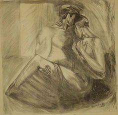 Σκέψεις: Μανώλης Ορφανίδης ,ζωγραφική με κάρβουνο