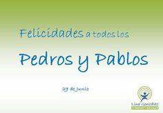 Onomástica: San Pedro y San Pablo, 29 de Junio #communitymanager #socialmediamarketing