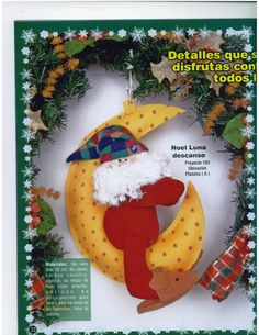 revista muñecos navideños gratis - Revistas de manualidades Gratis Christmas Ornaments, Christmas Things, Holiday Decor, How To Make, Creando Ideas, Home Decor, Quince Centerpieces, Basket Ideas, Cushions For Chairs