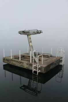 Abandoned diving boards.