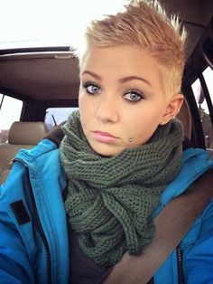 Trendy Blonde Pixie Hair