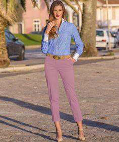 Damen 7/8-Hose, Rosé, 7/8 Hose mit Aufschlag. 97 % Baumwolle, 3 % Elasthan. Beschwingte Sommer-Mode für die schönste Zeit des Jahres.  Artikelnummer: 5114331, ab 119,00 €. www.daniels-korff.de