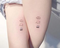 80 Sister Tattoos That Will Melt Your Friggin' Heart - Page 7 of 8 - Tattoos - Minimalist Tattoo Sibling Tattoos, Bff Tattoos, Friend Tattoos, Mini Tattoos, Body Art Tattoos, Small Tattoos, Tatoos, Tattoos For Sisters, Disney Sister Tattoos