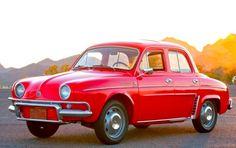 """1962 Renault Dauphine Deluxe. No Brasil era chamado de Gordini e tinha um apelido de leite gloria, que segundo o slogan do leite """"desmancha sem bater""""."""