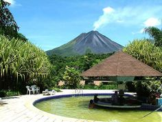 Arenal Volcano, Costa Rica.  Hotel Paraiso. 10th Anniversary.  (I think that is us at the bar!).  ha ha