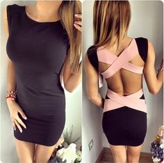 Sexy backless bandage dress