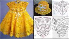 Resultado de imagem para vestidos de croche de criança