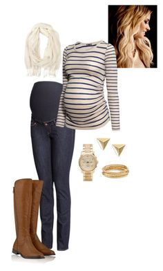 """""""Maternity Fashion"""" by howhauteisthat ❤ liked on Polyvore featuring H&M, Timeless, Forever 21 and Michael Kors"""