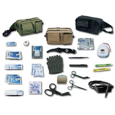 """When a downsized and basic tactical response kit is needed EMI's TACMED™ Basic Response Kit is your first choice. When you need to be prepared instantly for any active shooter, gunshot situation or tactical emergencies this kit is ideal. The fanny pack style bag has three outside pockets and two large zippered inside pockets. It has an adjustable nylon webbing that can fit 20"""" to 54"""" waists, with a quick release buckle. It measures 10""""L x 6""""H x 5""""W.TACMED Basic Response Kit Includes:BANDAGES…"""