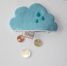 bulut, keçeden cüzdan